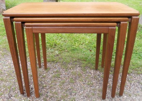 Retro 1960's Teak Nest of Three Coffee Tables